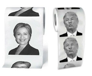 Trump and Hillary Toilet Paper – The perfect way to express how you feel about politics.