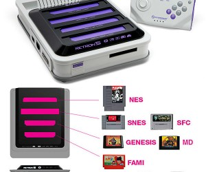 The ultimate retro gaming system! Comes with 5 cartridge slots for: ‪‎NES‬, SNES, ‪Genesis‬, Famicom, and Game Boy Advance!
