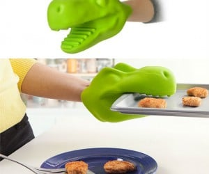 Commemorate the extinction of the dinosaurs with this T. Rex Oven Mitt!