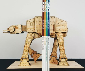 Wooden Star Wars AT-AT Bookends - This AT-AT was captured during the Rebellion and re-purposed to organize your rebel manuals.