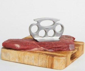 Brass Knuckles Meat Tenderizer – Beat your meat!