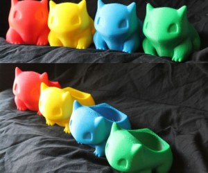 3d Printed Bulbasaur Planters - Bring some life into your room, work space, or front porch with these cute and colorful Bulbasaur planters!