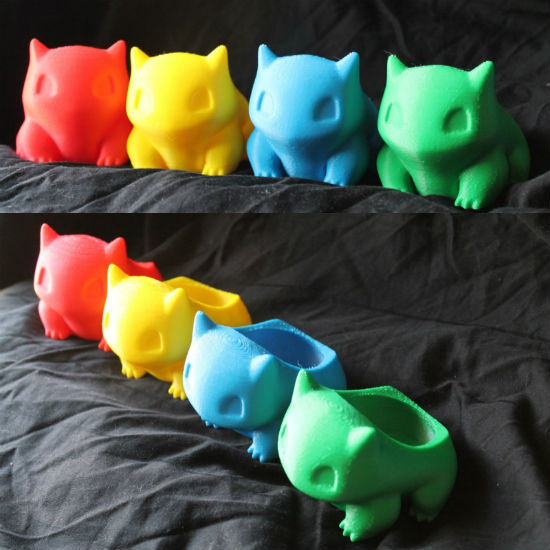 3d Printed Bulbasaur Planters - Bring some life into your room, work ... Velociraptor Keychain