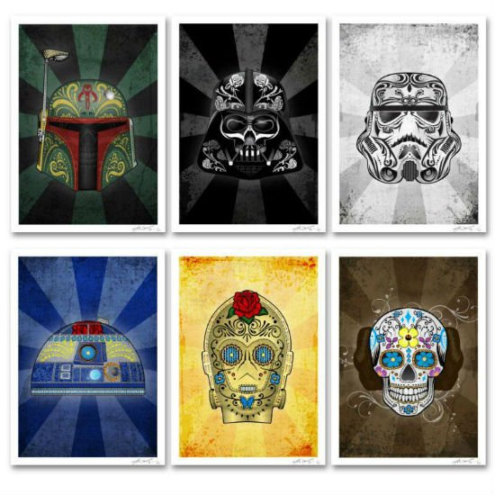 sugar-skull-star-wars-posters