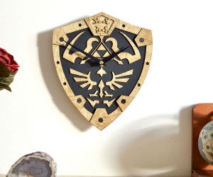 Zelda Hylian Shield Wall Clock