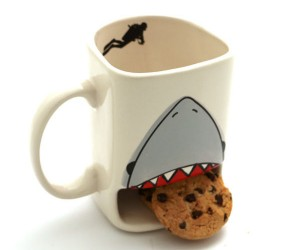 Shark Attack Cookie Mug – Know someone with a sweet tooth and a love of toothy fish?