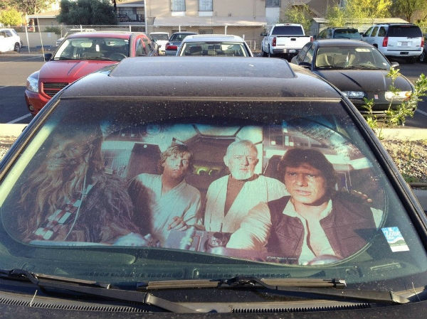 best-star-wars-products-millennium-falcon-sunshade