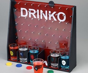 DRINKO Shot Glass Drinking Game – Like Plinko but the prize is you get drunk at the end.