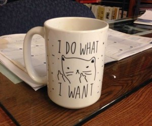 I do what I want mug – Because NO ONE tells you what to do.