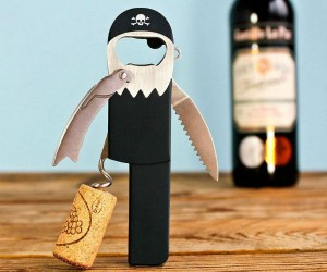 Pirate Corkscrew Bottle Opener – Bottle opener designed to look like a peg-legged pirate