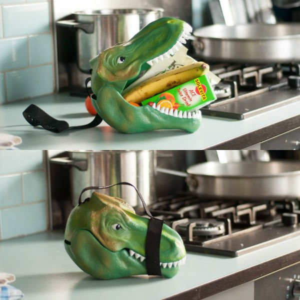 dinosaur head lunch box