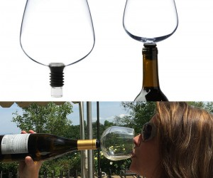 Guzzle Buddy Wine Glass – Turns your wine bottle into a wine glass!