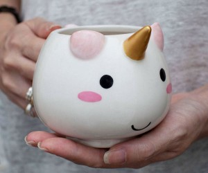 Makes your mornings extra magical with this super kawaii unicorn mug!