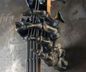 Grim Reaper Skeleton Hand Guitar Holder