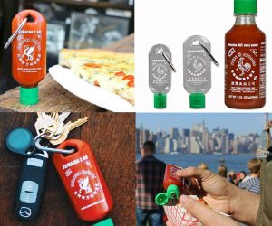 Sriracha 2 Go Mini Keychain Bottle