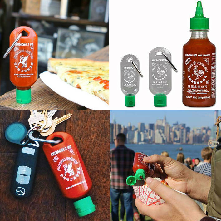 sriracha keychain bottle