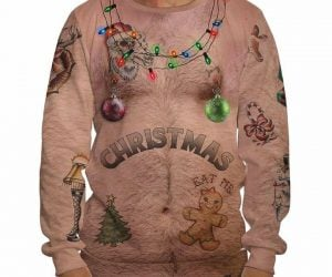 Ugly Christmas Chest Sweater!