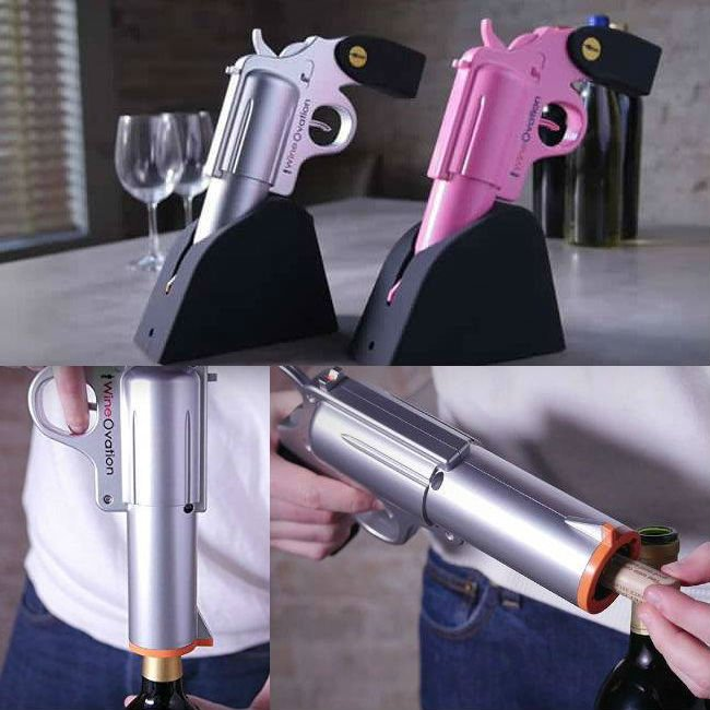 wine gun bottle opener