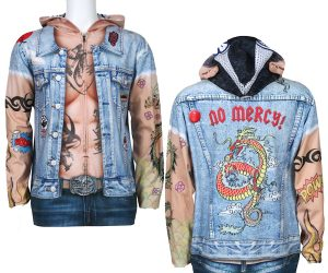 Tattoo Zip-Up Biker Hoodie!