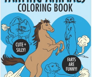 Farting Animals Coloring Book!