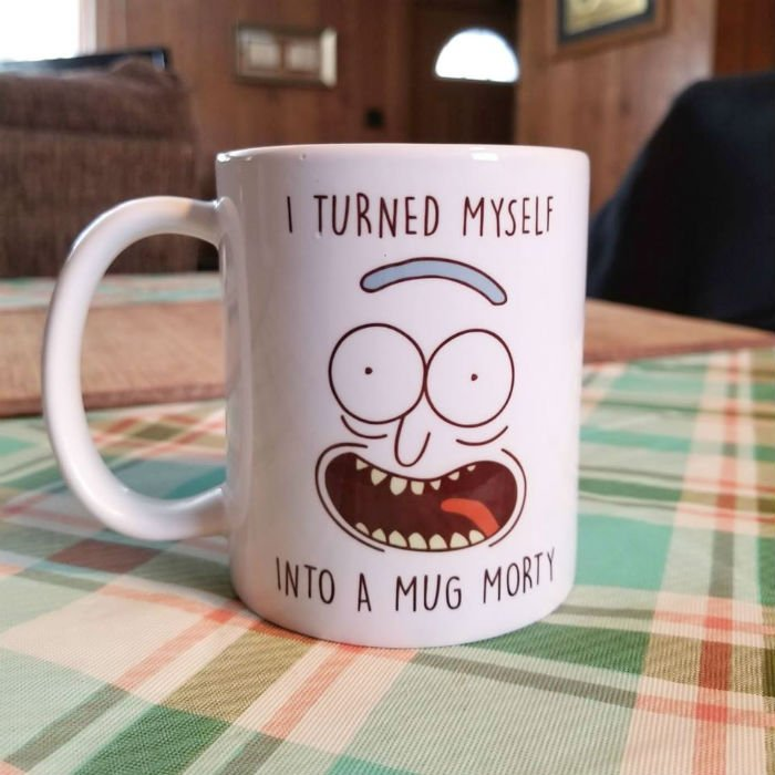 pickle rick mug
