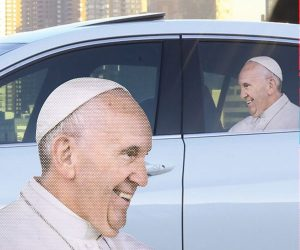 Ride With The Pope Car Decal!