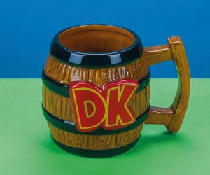 Donkey Kong Barrel Shaped Mug –The perfect accompaniment to your next mid-game coffee break.