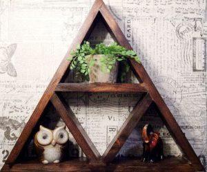 Rustic Zelda Triforce Shelf