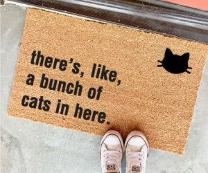 Bunch of Cats In Here Doormat – You've been warned!