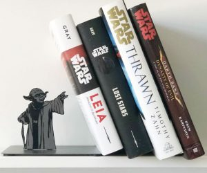Yoda Bookends – Display a collection of sacred Jedi texts—or your favorite page-turners—with a little help from Master Yoda.